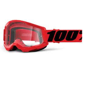 100% Strata Anti-Fog Goggles Gen2, red/clear
